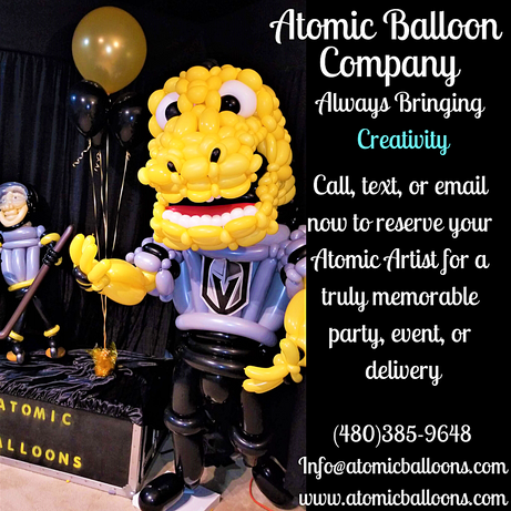 Large Golden Knights Balloon Sculpture