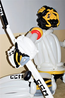 Large Fleury Golden Knights Goalie Balloon