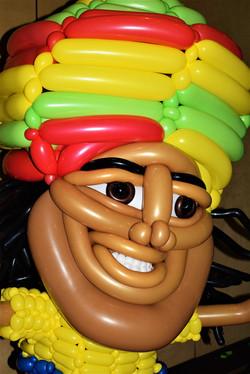 Rasta Man Balloon Sculpture