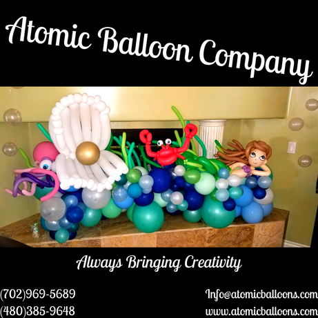 Under the Sea Baby Shower Balloon Decor
