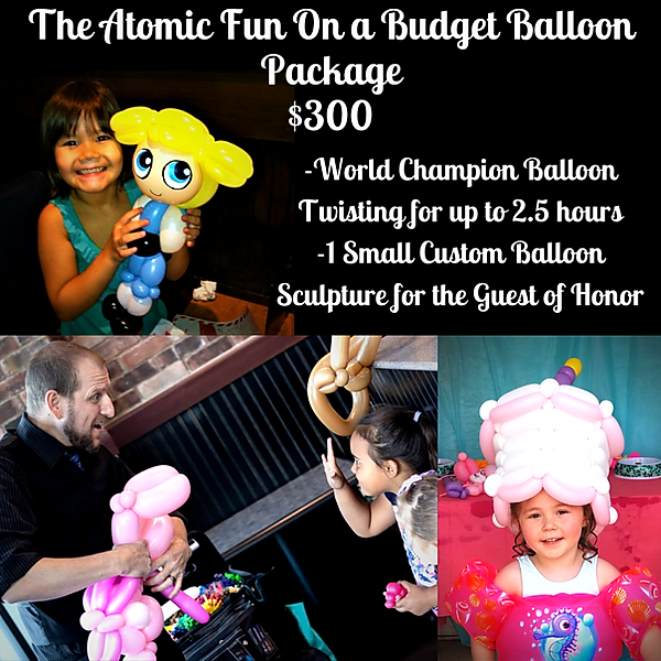 Budget friendly balloon party package