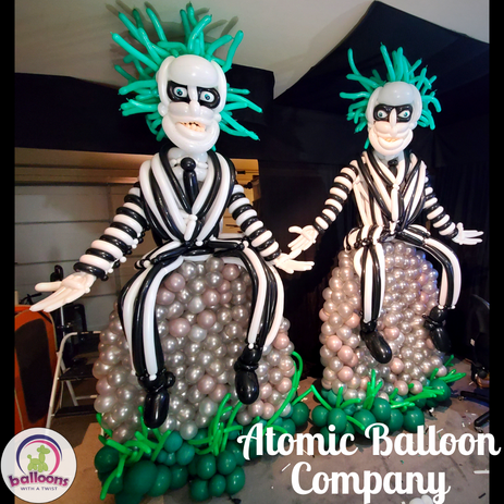 Halloween Beetlejuice Balloon Delivery