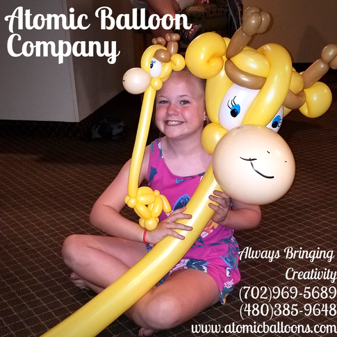 Wearable Giraffe Party Balloons