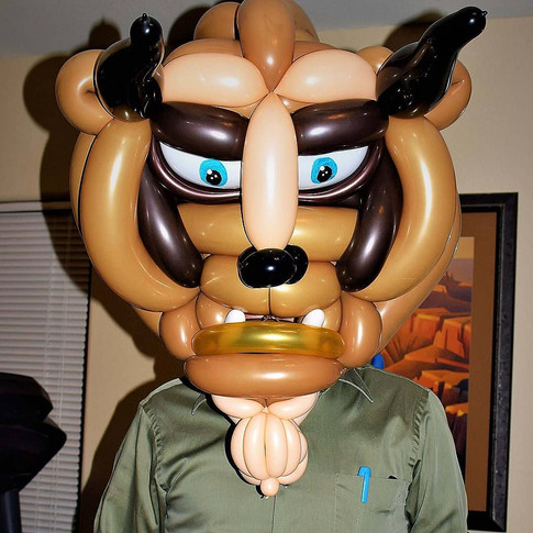 Beauty and the Beast Balloon Mask Costume
