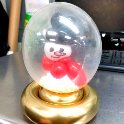 Snowman Snow Globe Balloon