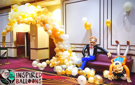 Champagne Organic Arch and Party Guys Balloons