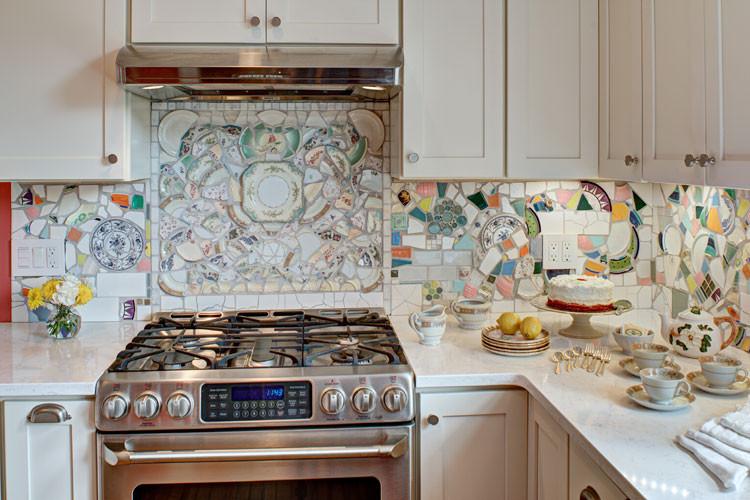 Кухонный фартук из подручных материалов #купить_кухонную_мебель_в_Москве