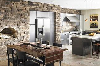 28 замечательных кухонь в каменных стенах