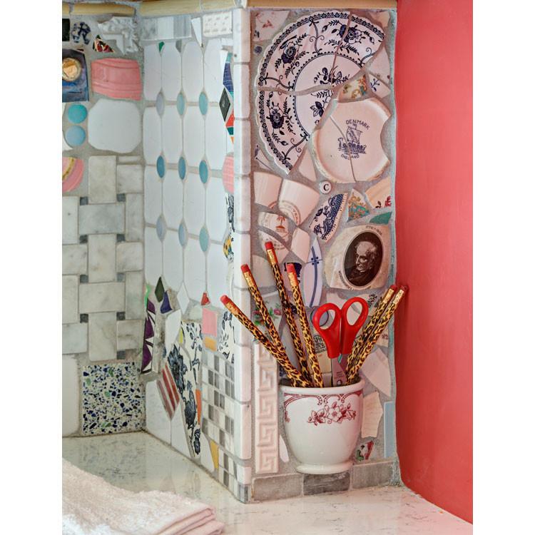 Кухонный фартук из подручных материалов #дизайн_кухни_мебель_фото