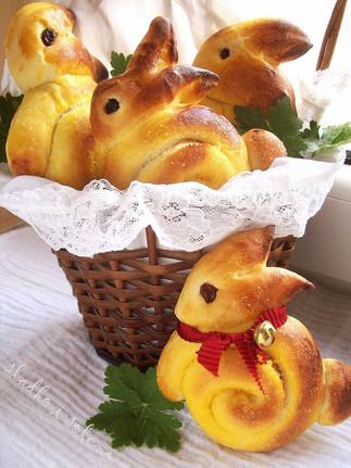 Золотистые пасхальные зайчата