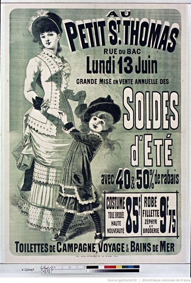 Au petit saint-thomas, premier magasin à proposer des soldes d'été