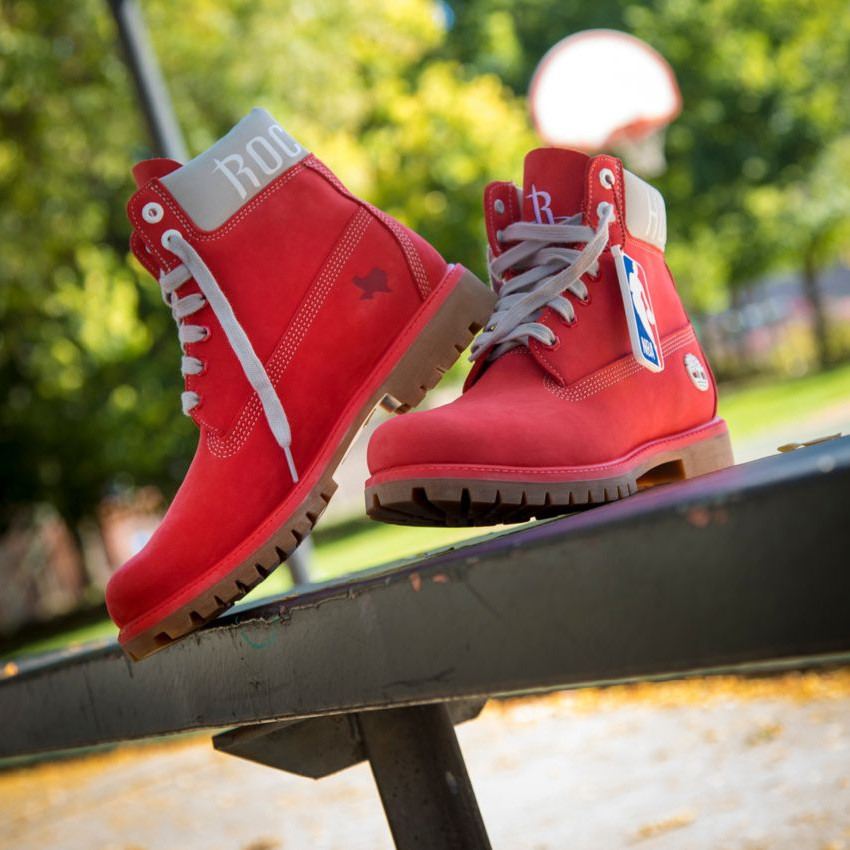 Boots Timberland Houston Rockets rouge