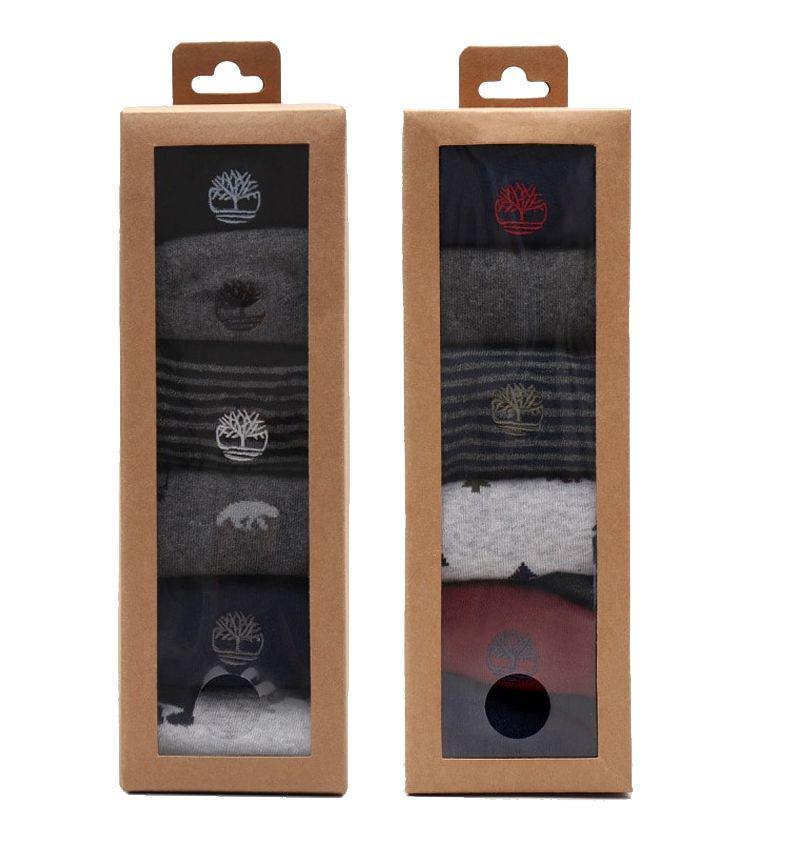 Coffret cadeau de 6 paires de Chaussettes homme Timberland aux coloris multiples.