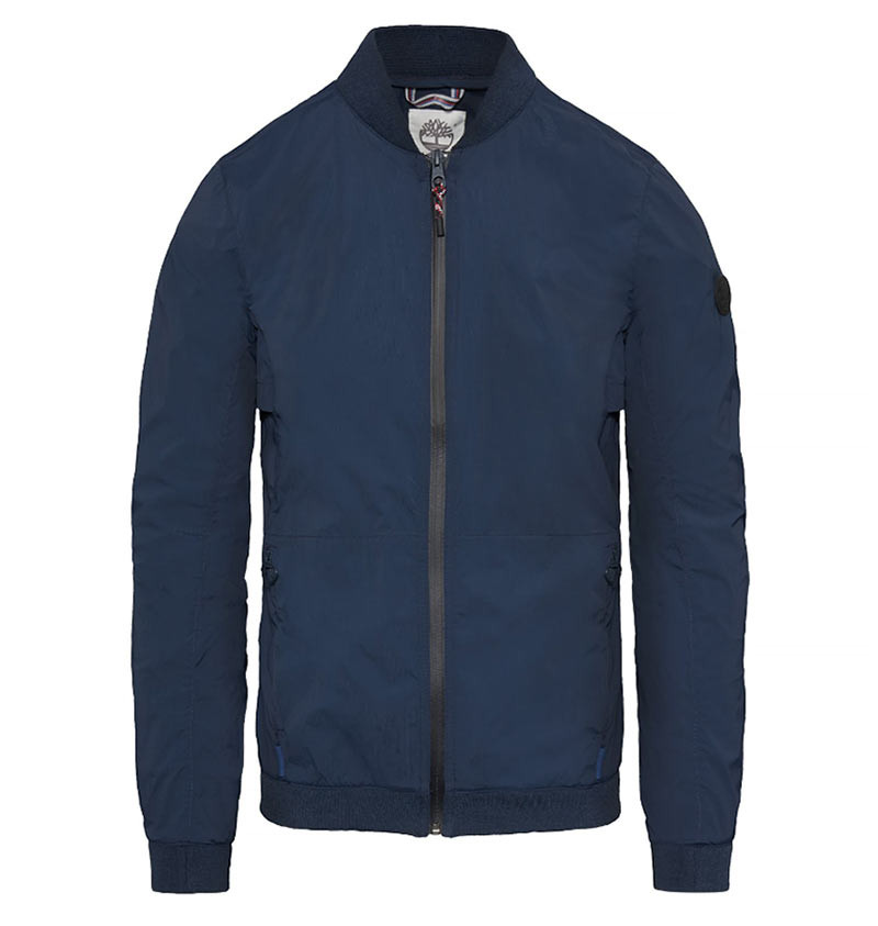 Veste pour Homme Timberland Mount Bigelow Stretch Cordura Fabric Packable Bomber - Dark Sapphire