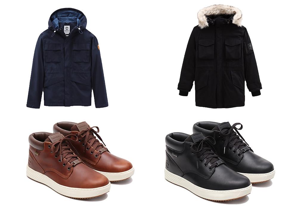 Pour une allure stylée et pleine de technologies optez pour ces vêtements et chaussures Timberland