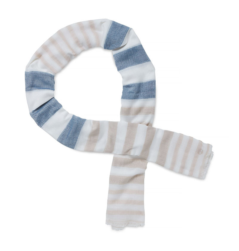 Écharpe Homme Timberland Striped Fringe Scarf - Multicolore