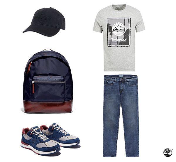 """Pour un look mêlant sportswear et """"chill"""" fondez pour cette silhouette homme Timberland"""