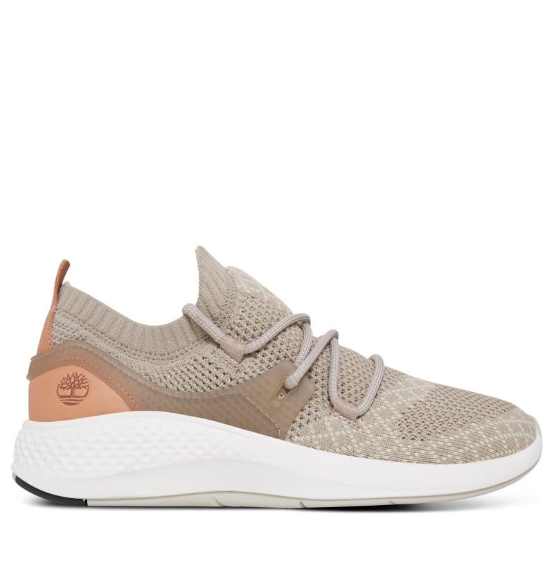 Chaussures Femme Timberland Flyroam Go Knit Oxford - Taupe full grain