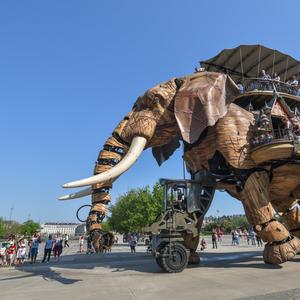 L'éléphant des Machine de lîle, symbole emblématique de la ville de Nantes
