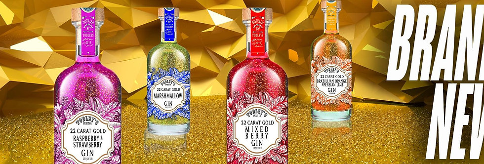 Mixed Berry Gin Liqueur with 22 carat Gold flakes