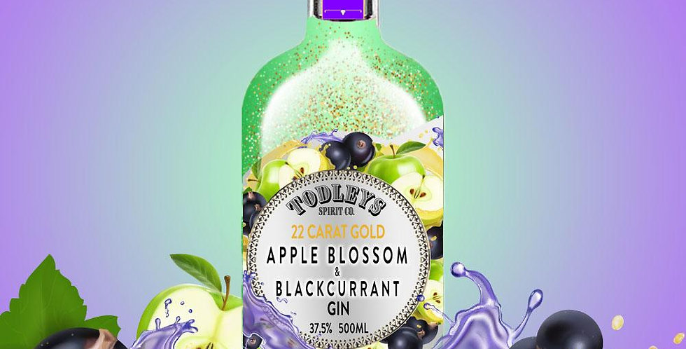 Apple Blossom & Blackcurrant Gin with 22 carat Gold flakes