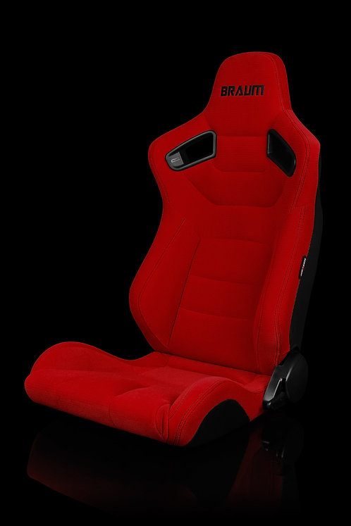 ELITE SERIES RACING SEATS (RED CLOTH) – PAIR