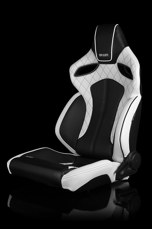 ORUE SERIES RACING SEATS (DIAMOND ED. | WHITE LEATHERETTE) – PAIR