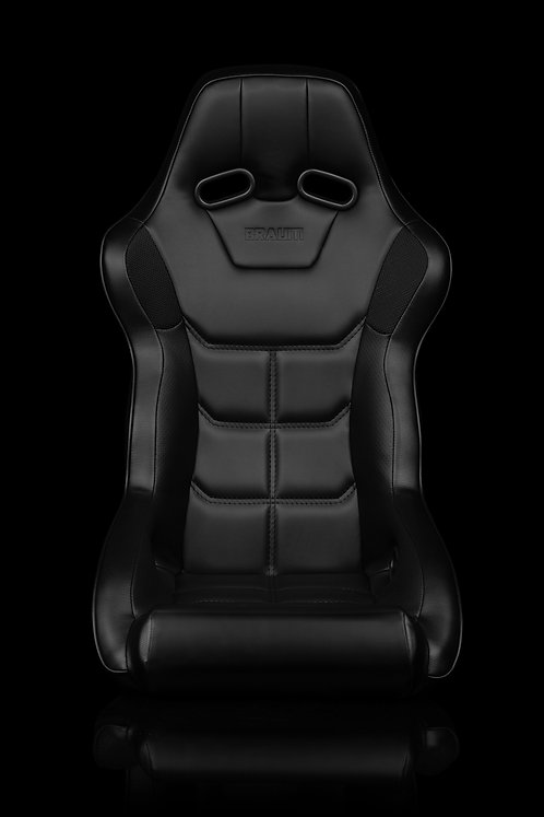 FALCON X SERIES FIA APPROVED FIXED BACK RACING SEAT (BLACK LEATHERETTE)