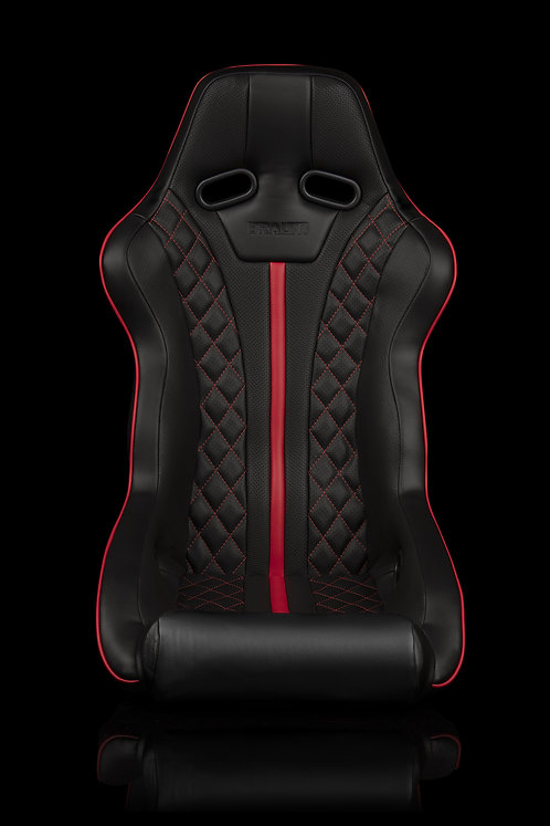 FALCON X SERIES FIA APPROVED FIXED BACK RACING SEAT (DIAMOND ED. | RED PIPING)