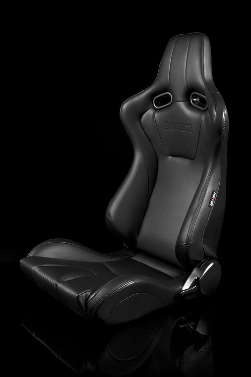 VENOM SERIES RACING SEATS (BLACK LEATHERETTE) – PAIR