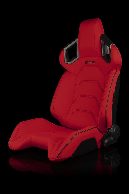 ALPHA-X SERIES RACING SEATS (RED CLOTH) – PAIR