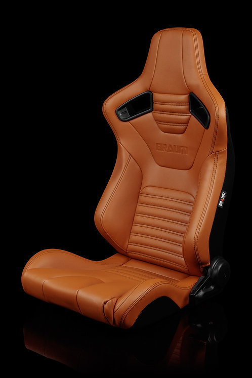 ELITE-X SERIES RACING SEATS (BRITISH TAN LEATHERETTE) – PAIR