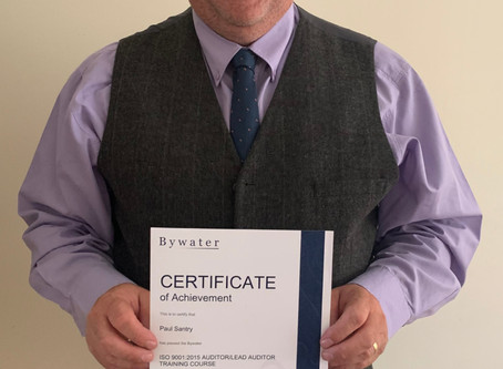 Congratulations to Paul on passing the ISO Lead Auditor Training Course