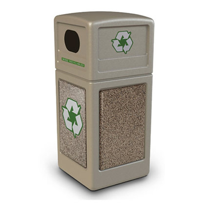 Recycle Bin 42 gallon_Stone