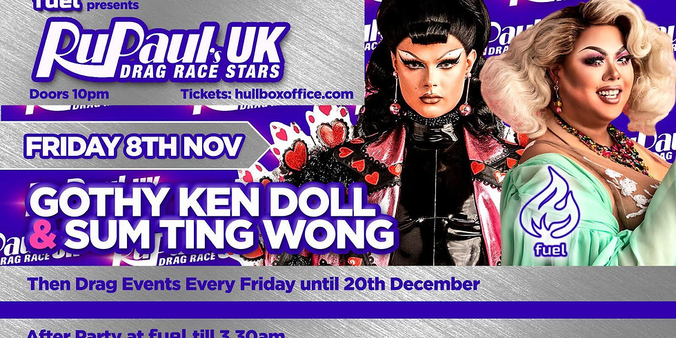 RUPAUL'S DRAG RACE UK STARS COME TO HULL: GOTHY KENDOLL & SUM TING WONG