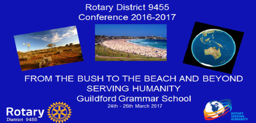 Rotary District Conference 2016-17: From the bush, the the beach, and beyond