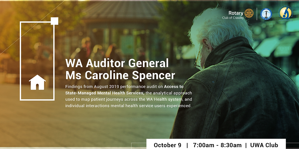 Breakfast with the Auditor General - Access to Mental Health Services in WA