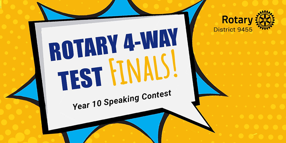 Rotary 4-Way Test - Speaking Contest Finals