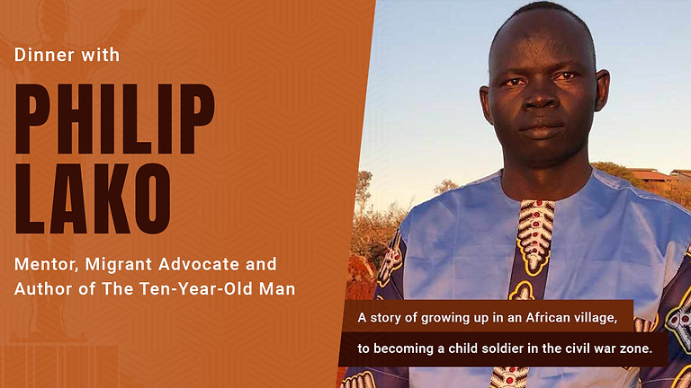 Dinner with Philip Lako - Mentor, Migrant Advocate and Author