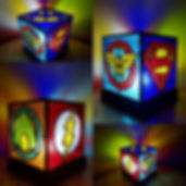 The SuperHeroes Lamp Stained Glass Courses, Workshops and Classes in London