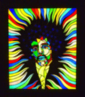 Psychedelic Jimi Hendrix Stained Glass Courses, Workshops and Classes in London