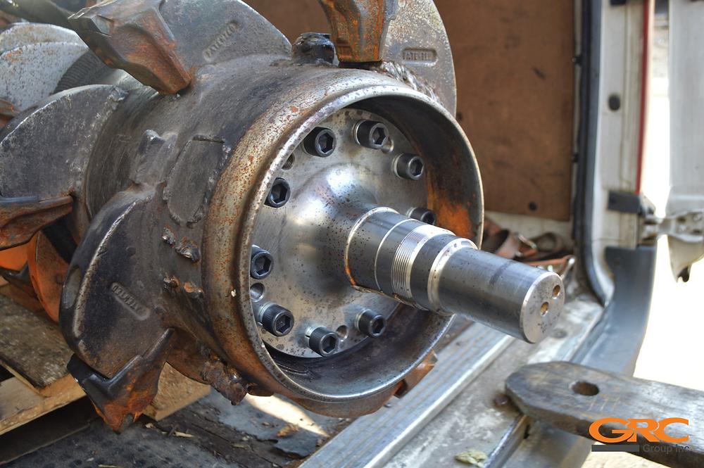 Ремонт ротора мульчера (Восстановление резьб)