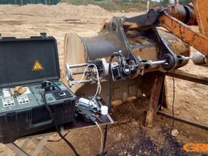Мобильная расточка ковша и рукояти HITACHI ZX 300