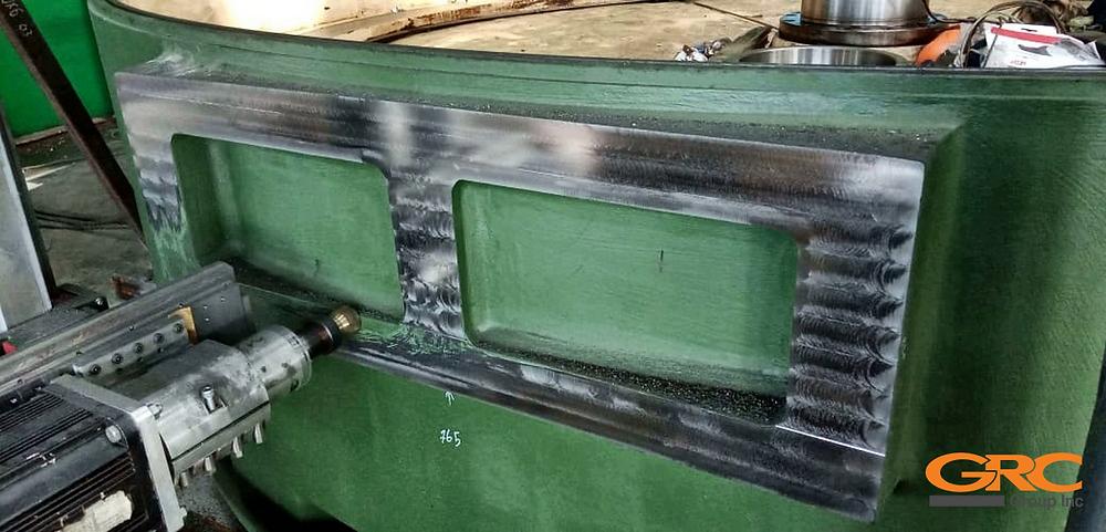 Мобильная фрезеровка станины карусельного станка