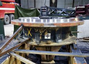 Ремонт сопряжения верхней и нижней чаши конусной дробилки Sandvik CH660