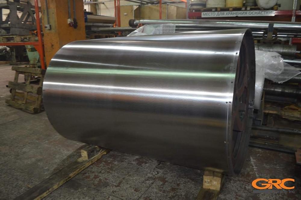 Механическая обработка барабана большого диаметра