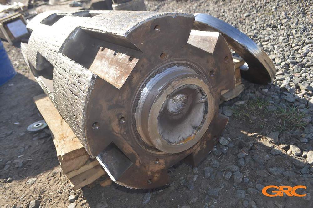 Ротор дробилки переработки шин до ремонта