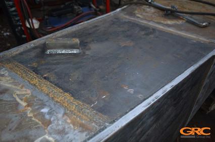 процесса ремонта стрелы Volvo EC460B