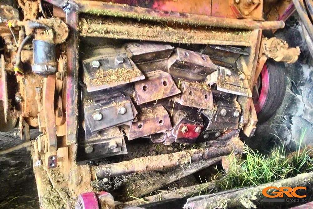Измельчающий барабан кормоуборочного комбайна КВК 800