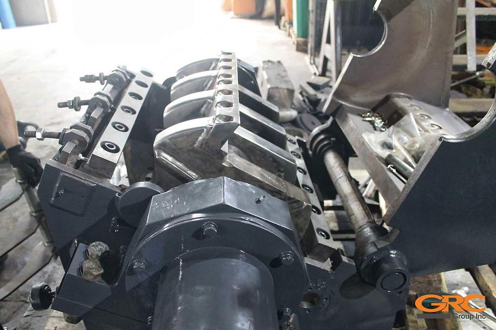 Роторная дробилка полимеров AVIAN 46-60 после ремонта